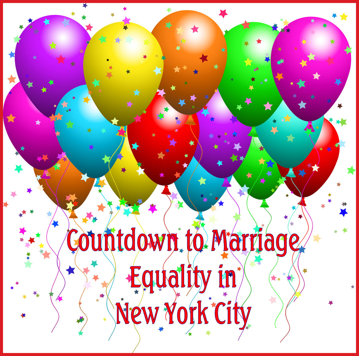 Countdown to Marriage Equility in NYC