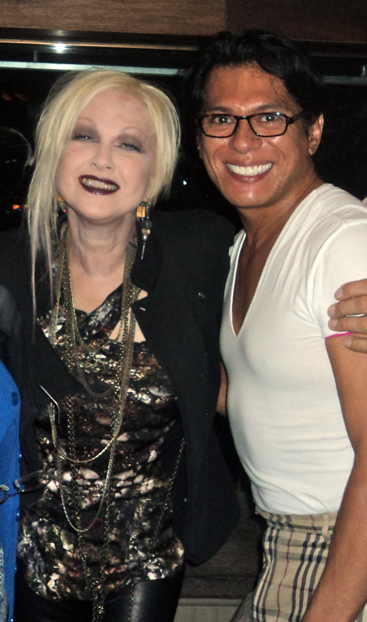 Cindy Lauper and Lawrence NYC 2011.